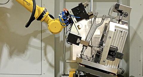 Achslagerbock Roboter-Arm